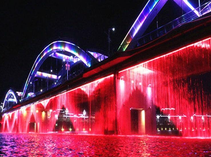 Air Mancur Digital Tirai Jembatan