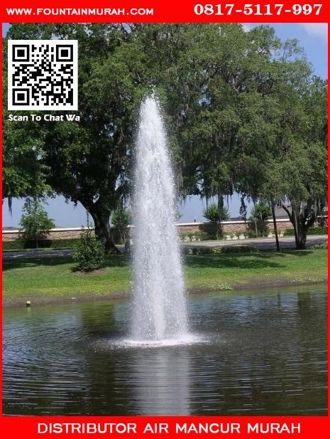 Contoh air mancur dengan nozzle ice tower kuningan
