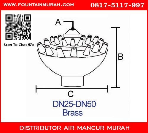 Diameter Nozzle Air Mancur Taman murah Fixed Blossom