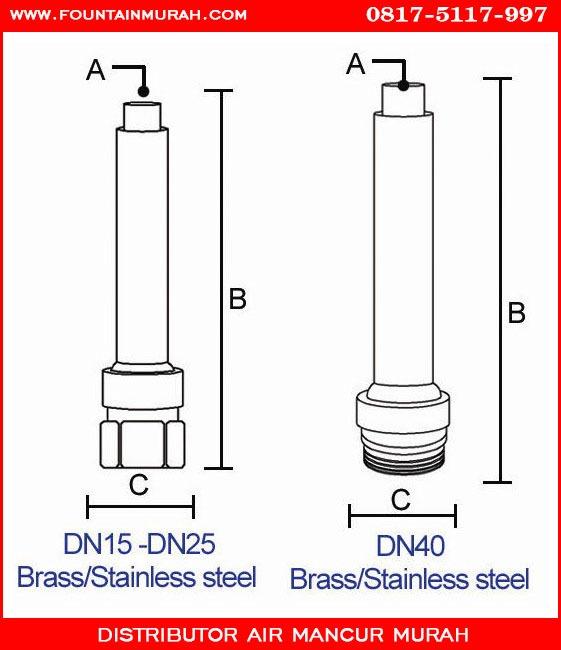 Diameter nozzle murah untuk taman dan alun alun