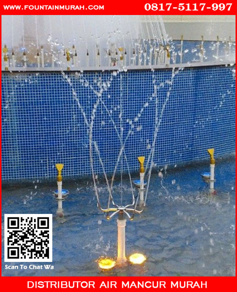 Pengaplikasian nozzle Pirouette untuk air mancur taman